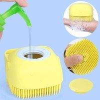 Niños Hair Pey Bath Massage Peine Pincel de lavado de silicona con espacio de champú