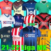 Liga MX 2021 2022 Tigres Unam Gignac Club America Soccer Jerseys Tijuana Leon Cruz Azul 21 22 Monterrey Football Hemden Giovani 115th Chivas Jersey O.Peralta