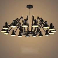Pendant Lamps Vintage 9 12 16 Heads Black White Spider Lights Suspension Luminaire Hanging Antique Lighting For Homes