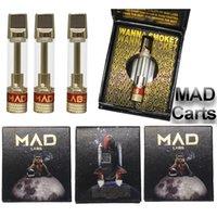 미친 vape 카트리지 0.8ml 분무기 금속 카트 510 스레드 기화기 펜 카트리지 골드 컬러 라운드 팁 두꺼운 오일 빈 vape 펜 미친 랩 로고 전자 담배 포장