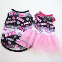 Summer Dog Dress Pet Dog Clothes for Small Dog Wedding Dress Skirt Puppy Clothing Spring Fashion Cotton Pet Clothes XS-L