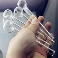 Qbsomk 4,8 polegada (12cm) Clear Pyrex vidro de vidro queimador de óleo transparente Burner de óleo tubo de vidro tubo de vidro tubos de vidro tubos de água mar NHC7632