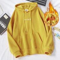 Women's Hoodies & Sweatshirts Streetwear Thick Autumn Winter Women Harajuku Letter Pattern Korean Female Preppy Style Outwear Tops