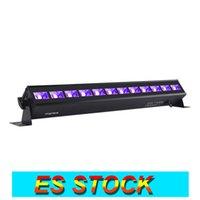 ES Stock 12 Led 검은 빛 36W UV 바 블랙 라이트 어두운 파티에서 광선 크리스마스 생일 축하기구 생일 웨딩 스테이지 조명 바디 페인트
