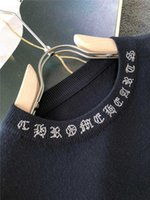 Выход Продажа CHAO Brand Crosin Cross Sanskrit Drill Круглая Шере Пуловер Мужской Шерстяной Шерстяной Свитер Долго