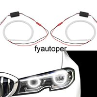 For BMW E46 Non Projector 12V Car SMD LED Angel Eyes Ultra Bright Car-styling 2 x 131mm White Halo Cotton Light