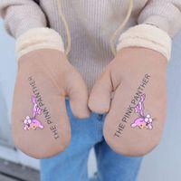 Женские теплые плюшевые стиль зимние перчатки мультфильм печать студент mittens2w60