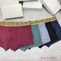 Sous-vêtements en coton d'été pour hommes Sous-vêtements Classic Lettre Imprimer Boxers Boxers Cadeau Anniversaire mari mari