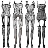 Сексуальные костюмы тела костюм тело чулок Секс эротический открытый промежность тедди женское бельё промежуточное белье Baby кукла Feminino Porno