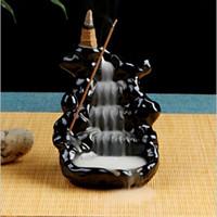 Bolsas de bolsas decoración para el hogar creativo retrofe de flujo de incienso incienso Cerámica Censation Decoración de la decoración en el budismo de la casa de té