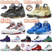 Nouveau 5 5s V OG Mens Basketball Ciment Noir métallisé or blanc Blue Suede Shoes Olympic Sports Red Fire métalliques Sneakers US 7-13