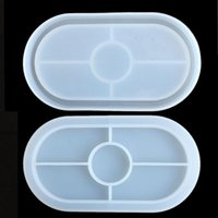 Silicone Molds Ellipse Manual Moulds Epoxy Resin Mirror Mould Transparent Cup Mat Soft 3D Room 6 8dy O2 0HZF