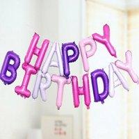 """Decoração de festa 300sets / lote 13 pçs / set feliz aniversário carta conjunto 16 polegadas balão de folha 16 """"Ballon para crianças para bebés"""
