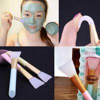 Eyelash Curler 3pcs Professional Silicone Face Mask Brushes Flexible Facial Mud DIY Cream Mixing Foundation Brush Skin Care Beauty