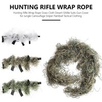 135cm Airsoft Hunting Blind Ropes Camouflage Ghillie Suit Accessories Elastic Synthetic Fiber Mlitary CS Hunting Blind Gun Wraps