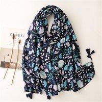 Schals Europäischen Stil Mode Floral Quaste Schal Schal Dame Herbst Hohe Qualität Strand Sonnencreme Wrap Tücher Muslimische Frauen Hijab