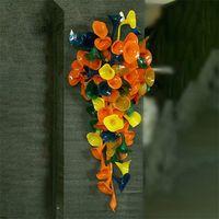 Современный стиль ручные лампы, висит Мурано многоцветный стеклянный стеклянный искусство декоративные 50см широкий и 120см высокого северного украшения дома