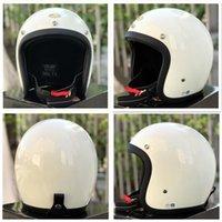 Motorcycle Helmets Helmets&CO 500TX Vintage Casco Cafe Racer Helmet Light Weight Moto Japan Retro Motorbike Fiberglass Open Face 3 4