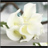 Decorative Wreaths Pu Calla Lily For Home Decoration Wedding Party Supplies Bridal Bouquet Artificial Flowers Poqwd 8D6Kv