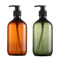 500ml Amber Empty Lotion Container Foam Pressed Pump Shampoo Bottle Portable Shower Gel Organize #Q Liquid Soap Dispenser