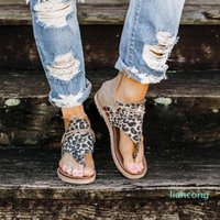 Summer women shoes summer large size leopard sandal women non-slip flip-flops beach sandals flat Roman sandal