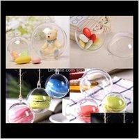 Decorations Festive Party Supplies Home Garden Drop Delivery 2021 4Cm 5Cm 6Cm 7Cm 8Cm 9Cm 10Cm Clear Plastic Fillable Ornament Baubles Creati