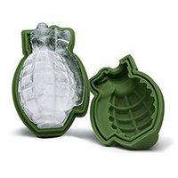 DHL Ship Ship 3D Forma di granata Grenade Cube Cube Stampo Creativo Gelato Maker Party Bevande Silicone Vassoi Stampi Cucina Bar Strumenti