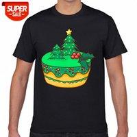 Camiseta Hombres Navidad Panadería Galletas Pasteles de galleta Navidad Navidad Verano Harajuku Geek Short Masculino Tshirt XXXL Fiesta # JN9F