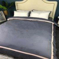Conjuntos de cama de algodão Soft Home Queen Size Tampa de edredão Cama Folha de cama Fronhas Europeias Estilo Colorido Strip Flower COBERTER COBERTURA