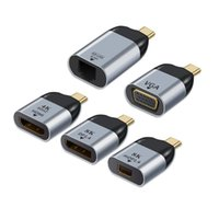 Тип-С К -Compatible VGA / DP / GB / MDP Экран 4K @ 60Hz HD Видео передатчик Конвертер компьютерных кабелей.