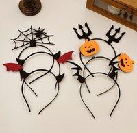 Halloween NEW Headdress Headband Funny Little Devil Ear Wing Jewelry Horn Hairband Cute Hairpin Pumpkin Internet Celebrity Head Ornament Female