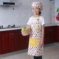 كاريكاتير الحيوان منقوشة الطبخ الأطفال ساحة اللباس المطبخ المنزل الخبز الوالدين- الطفل بلا أكمام القطن اللوحة مآزر الاطفال