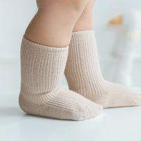 Lawadka 3pairs / lot القطن ولد الطفل بوي الفتيات الجوارب الصلبة ربيع الخريف للأولاد عارضة الرضع طفل الطابق لينة