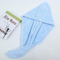Microfaser Hair Dry Wrap Trockning Handtücher Pflegekappe Umwickelt Bad Caps Button Original Magie Instant Frauen Super Saugbent Schnelltrocknung CCF8568