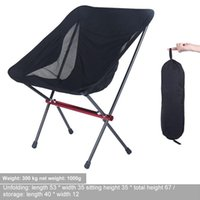 Camp Furniture Ultralight Outdoor Folding Camping Chair Picnic Foldable Hiking Leisure Travel Beach Backpack Moon Fishing BBQ Accessories