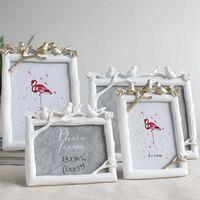 Retro Resina Bird Pássaro PO Quadro Criativo Vintage Aves Árvore Imagem Do Casamento Quarto Decoração Decoração Ornamentos Presente Retângulo Quadro Sh190918
