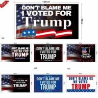 Não me culpe Eu votei para Trump 90 * 150cm bandeira bandeira trunfo 2024 bandeira presidente Biden Trump bandeiras de eleição novamente grande poliéster 3 * 5 pés