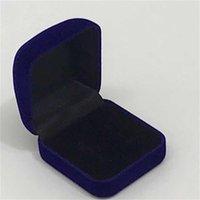 Vente en gros 6pcs Bijoux Boîte de bijoux Rouge Noir Bleu Blue Bague Bijoux Bijoux Boîte Bague Bague Bague Storage Coffret 5 * 5.8 * 3.5cm 917 Q2