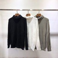 Designer autumn stone hoodie sweatshirts Turtleneck women men hoodies sweatshirt High collar sweater pullover island letter badge embroidery Solid sweater A3NU#