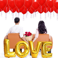 Party Decoration Balloon Set Valentine's Day Wedding Engagement Propose Marriage Room Background Wall Helium Foil Balloons