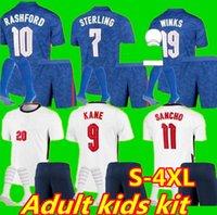 2021 2022 Jersey de futebol Kane esterlina Rashford Sancho Henderson Barkley Maguire21 22 Camisas de futebol nacionais Homens + kit kids sets uniformes