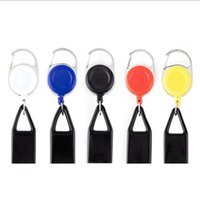 Colorful Lighter Sheath Protective Case Key Buckle Portable Leash Telescopic Rope Shell For Cigarette Smoking Pipe JJA106