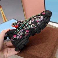 Chaussures FlashTrek avec cristaux amovibles MenssNeaker Mode Femme Baskets Casual Taille 35-45 KMTT002