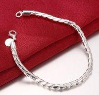 925 plata esterlina plateada 4 mm Pulsera de cadena de cuerda torcida joyería de moda Wholesale Regalos de Navidad precio bajo precio de buena calidad WJL1595