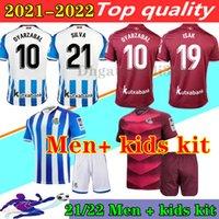2021 Final Copa Del Rey Real Sociedad Kids Kits 축구 유니폼 20 21 Royal Society Silva oyarzabal Portu Isak Merino Boys Camiseta de Futbol 축구 셔츠 유니폼