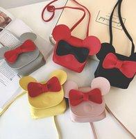 8 Styles Kids Cartoon Elephant Handbags Girl Bow Tie Shoulder Bag Children Mini Mouse Purse Shoulder Crossbody Bags