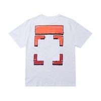 Off Brand Designer Baumwolle Kurze Ärmel Paare von Schwarz Weiß T-Shirt Herren Top T-Shirt Lässige Sommer T-Shirt x Drucktops Hemd