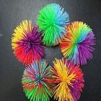 Anti-Stress 6CM / 7CM 30G Rainbow Fidge Toys Сенсорный Koosh Ball Baby Смешные растягивающие игрушки Стремление Рельеф Детский аутизм Особые потребности