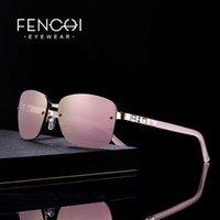 Fenchi sunglasses mulheres designer marca luxo óculos de sol retrô sunglasses cor-de-rosa espelho rave trendy shades lunte soleil femme