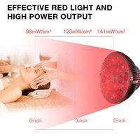 LED المصابيح 54W أضواء المصابيح الحمراء ريدز 660nm وبالقرب من الأشعة تحت الحمراء 850nm ضوء العلاج المصابيح لتخفيف آلام الجلد